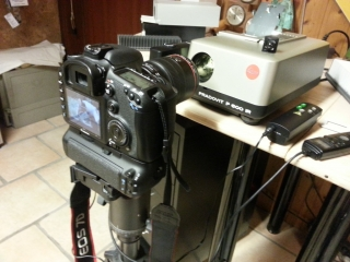 Canon EOS 7D mit Leica Pradovit 600IR